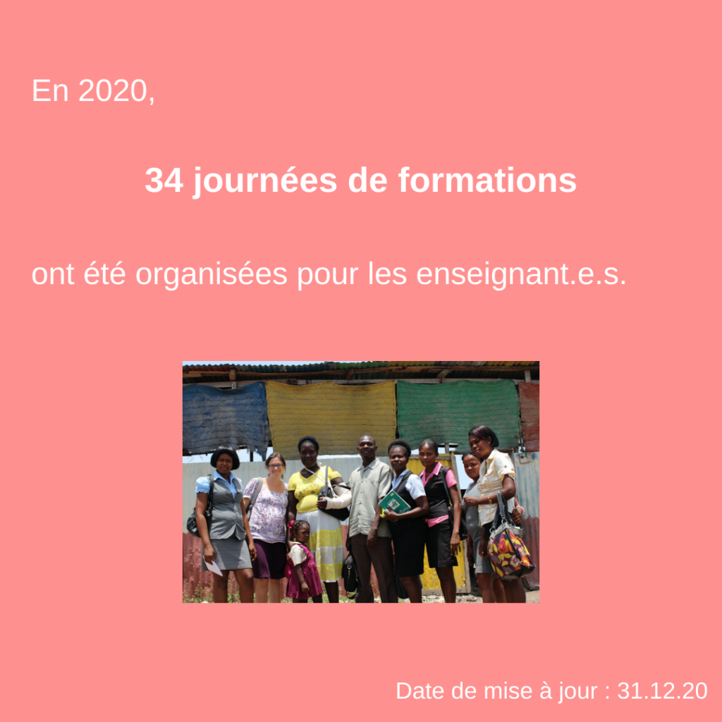 Formation d'enseignants pour une éducation adaptée à la psychologie de l'enfant et de l'adolescent en Haïti 27