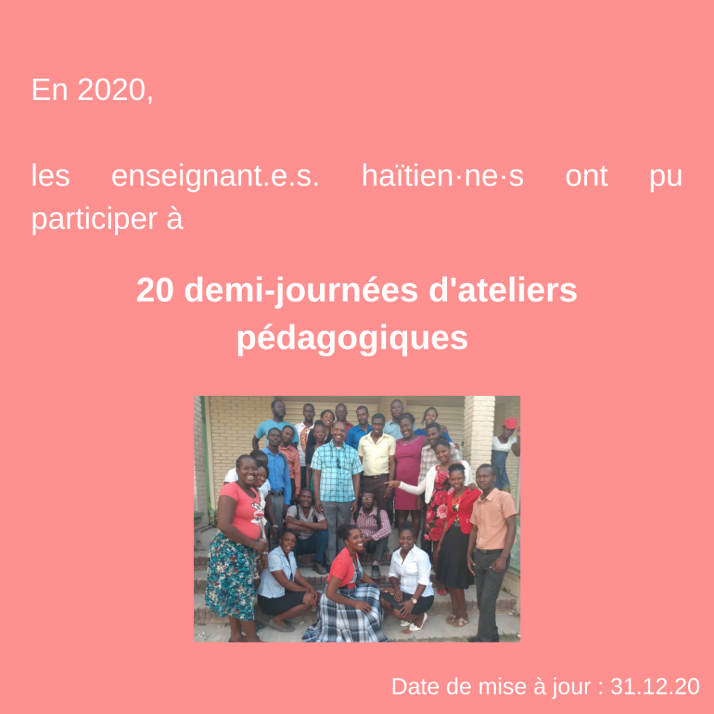Formation d'enseignants pour une éducation adaptée à la psychologie de l'enfant et de l'adolescent en Haïti 28