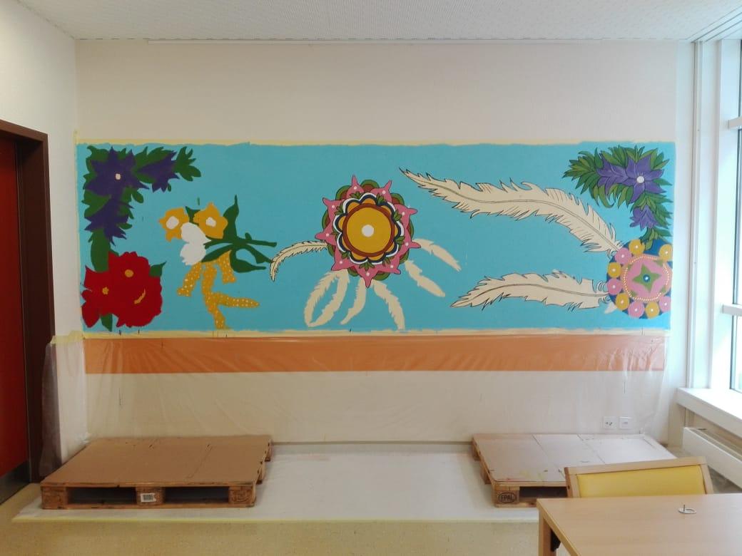 Projet de muralismo à la Clinique Saint-Amé 2