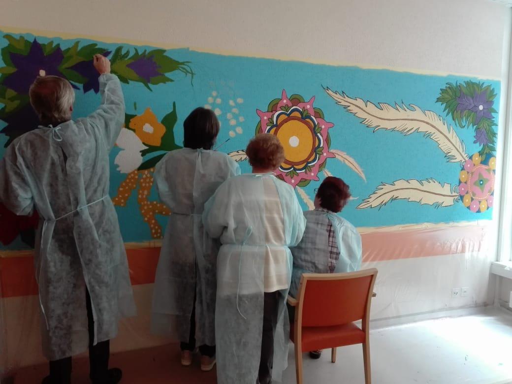 Projet de muralismo à la Clinique Saint-Amé 3