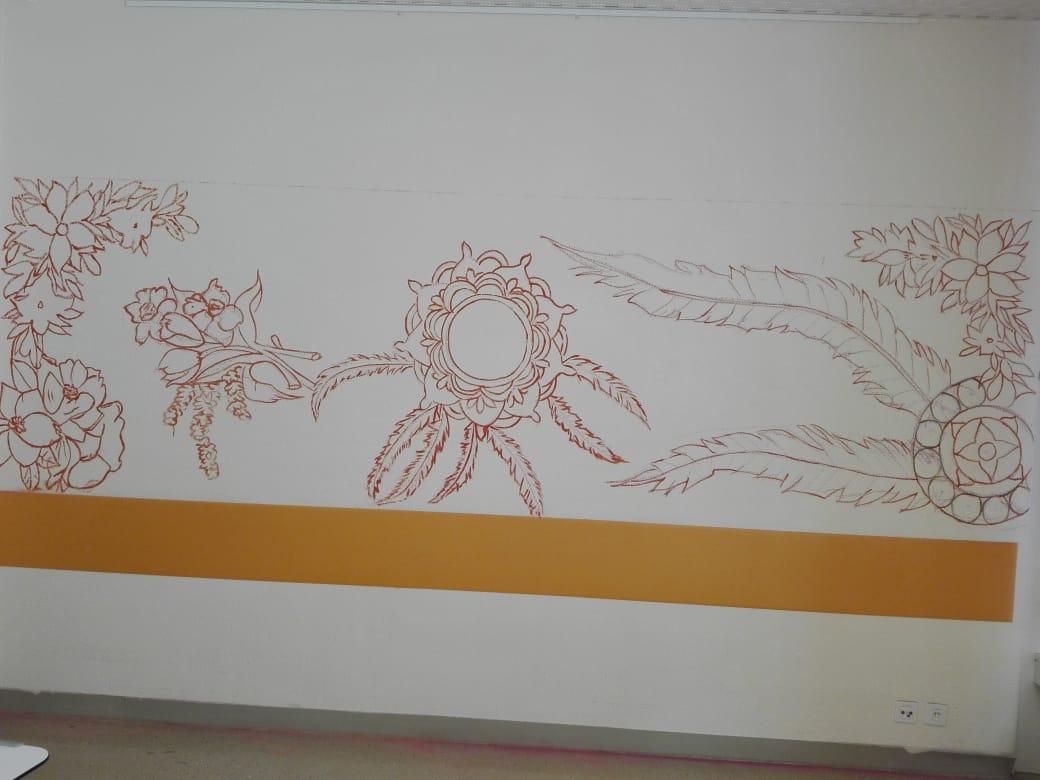 Projet de muralismo à la Clinique Saint-Amé 4