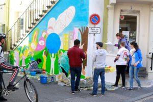 Vernissage de la fresque murale à la Bluefactory