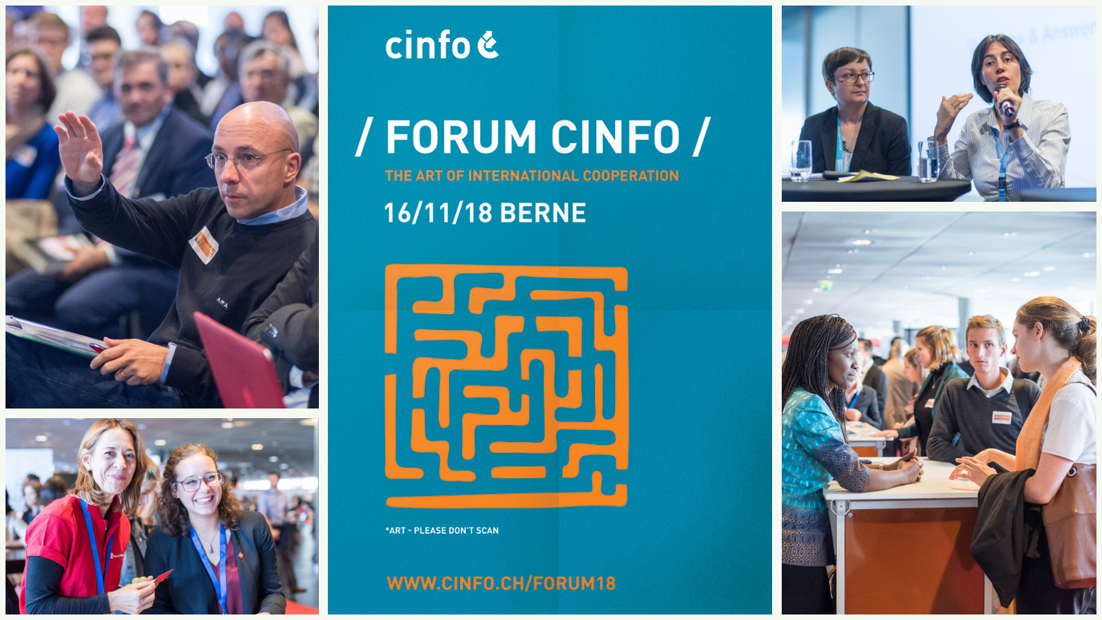 Stand d'info au Forum Cinfo