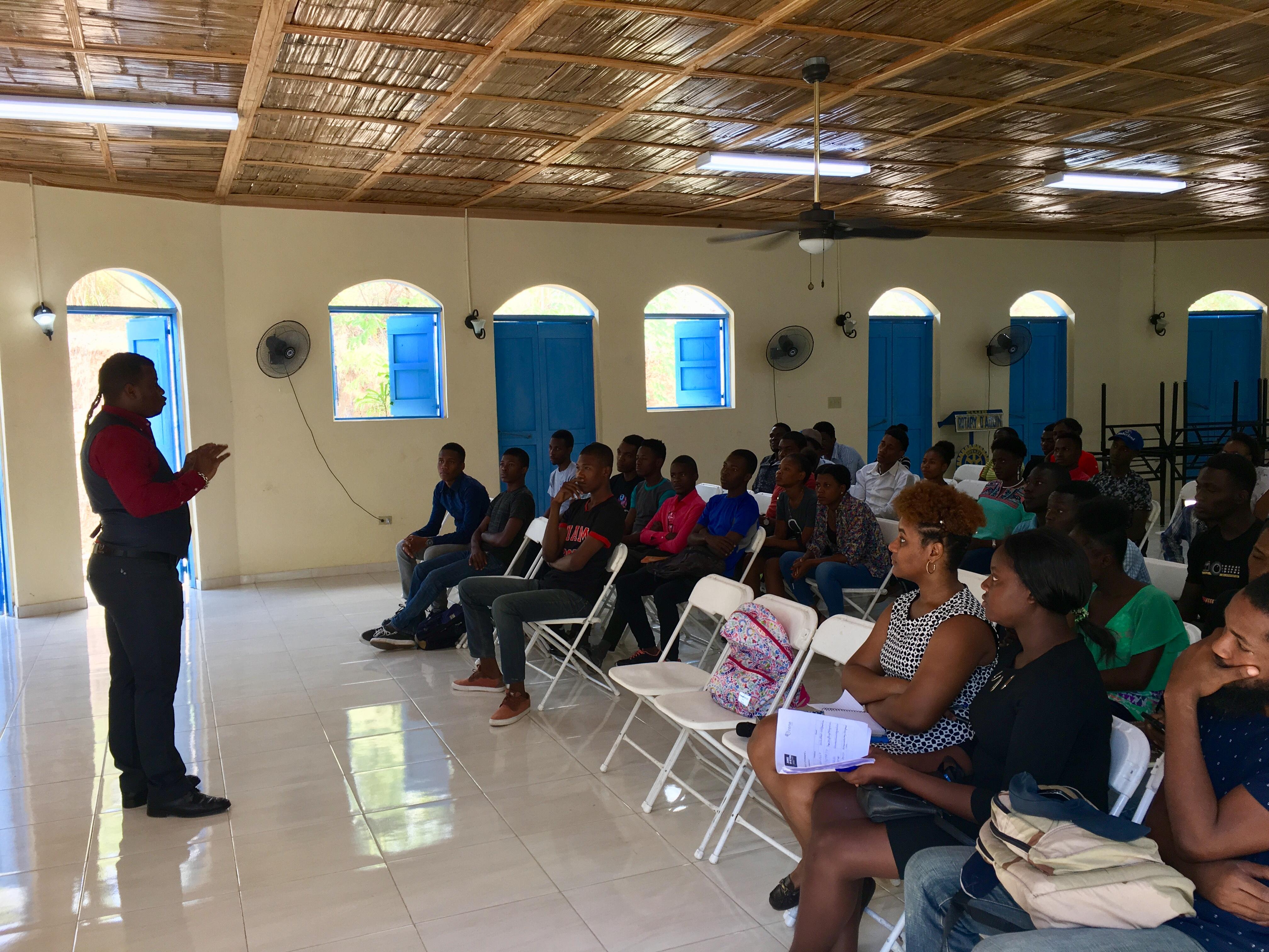 """Ouverture du projet """"Jeunes et participation citoyenne en Haïti"""" 3"""