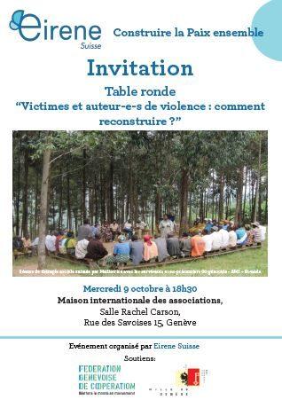 """Table ronde: """"Victimes et auteur-e-s de violence: comment reconstruire?"""" 1"""
